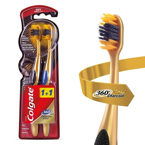 COLGATE DF 360 1+1 CHARCOAL GOLD